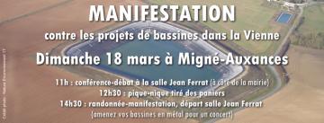 Manifestation contre les bassines dans la Vienne, le 18 mars à Migné-Auxances