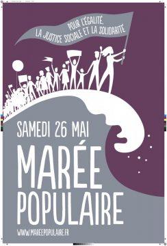 Pour une marée populaire le 26 mai! A Poitiers, Paris et ailleurs. Pour l'égalité, la justice sociale et la solidarité
