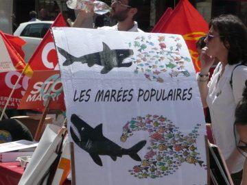 """Quelques photos de la """"Marée populaire"""" à Poitiers"""