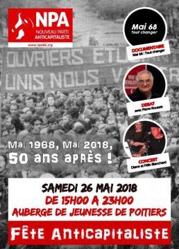 Fête anticapitaliste du NPA à Poitiers —mai 1968 - mai 2018, 50 ans après ! @ Auberge de jeunesse | Poitiers | Nouvelle-Aquitaine | France