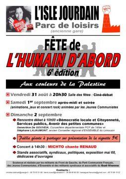 6e Fête de l'humain d'abord @ Parc de loisirs (ancienne gare) | L'Isle-Jourdain | Nouvelle-Aquitaine | France