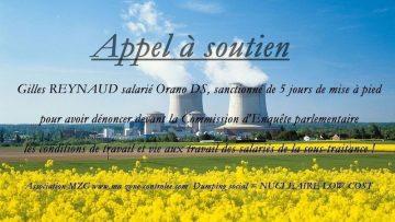 Soutien à Gilles Reynaud mis à pied pour avoir dénoncé la situation des sous-traitants du nucléaire !