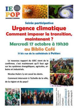 Urgence climatique. Comment imposer la transition, maintenant ? @ Biblio Café | Poitiers | Nouvelle-Aquitaine | France