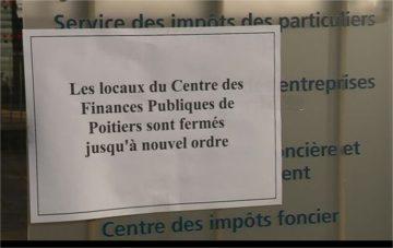 Blocage du centre des Impôts - Communiqué de la CGT