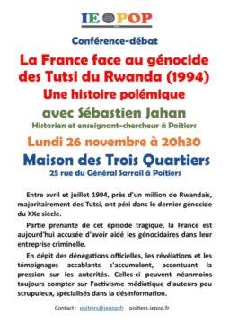 La France face au génocide des Tutsis du Rwanda : une histoire polémique @ M3Q  - Maison des Trois Quartiers | Poitiers | Nouvelle-Aquitaine | France
