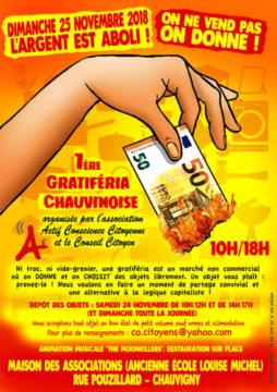 Première gratiféria chauvinoise @ Maison des associations (ancienne école Louise Michel) | Chauvigny | Nouvelle-Aquitaine | France
