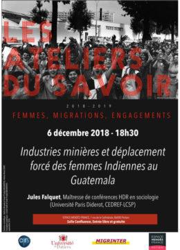 Industries minières et déplacement forcé des femmes indiennes au Guatemala @ Espace Mendès France