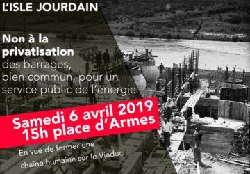 Barrage à la privatisation à l'Isle-Joudain