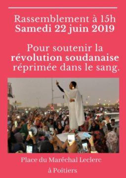 Rassemblement de soutien à la révolution soudanaise @ Place d'Armes devant l'Hôtel de ville