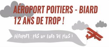 Aéroport Poitiers-Biard : 12 ans de trop ! @ devant l'hôtel du Département