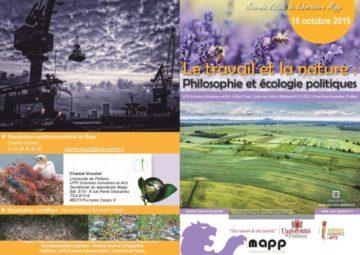 Journée d'étude « Le travail et la nature : philosophie et écologie politiques » @ UFR SHA, Hôtel Fumé, Salle des Actes (Bâtiment E15, RDC)