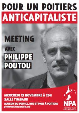 « Pour un Poitiers Anticapitaliste » - Meeting avec Philippe Poutou le 13 nov 2019 @ Salle Timbaud - Maison du Peuple