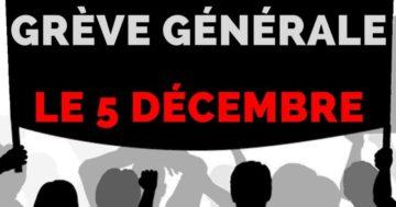5 décembre : appel syndical unitaire dans la Vienne @ Porte de Paris