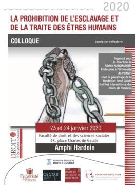 La prohibition de l'esclavage et de la traite des êtres humains