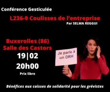 Conférence gesticulée par Selma Reggui @ Salle des Castors