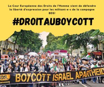 Victoire de la campagne BDS sur le boycott des produits israëliens : la France condamnée par la CEDH