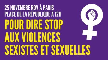 25 novembre : Journée internationale de lutte contre les violences sexistes et sexuelles