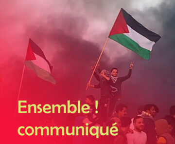 Halte à la répression israélienne à Jérusalem et à l'agression à Gaza